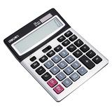 得力1654财务会计太阳能双电源办公商务大按键计算器多功能计算机