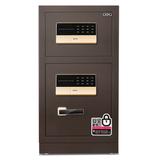 得力保险箱/保险柜系列保管箱双门入墙办公双层保管箱全钢