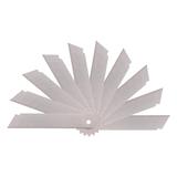 得力2011 SK5高碳钢美工刀片大号刃口锋利 10片/盒