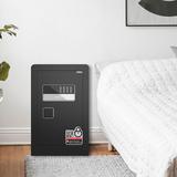 得力保险箱/保险柜系列 33575家用办公入墙保管箱小型防盗报警电子密码保险